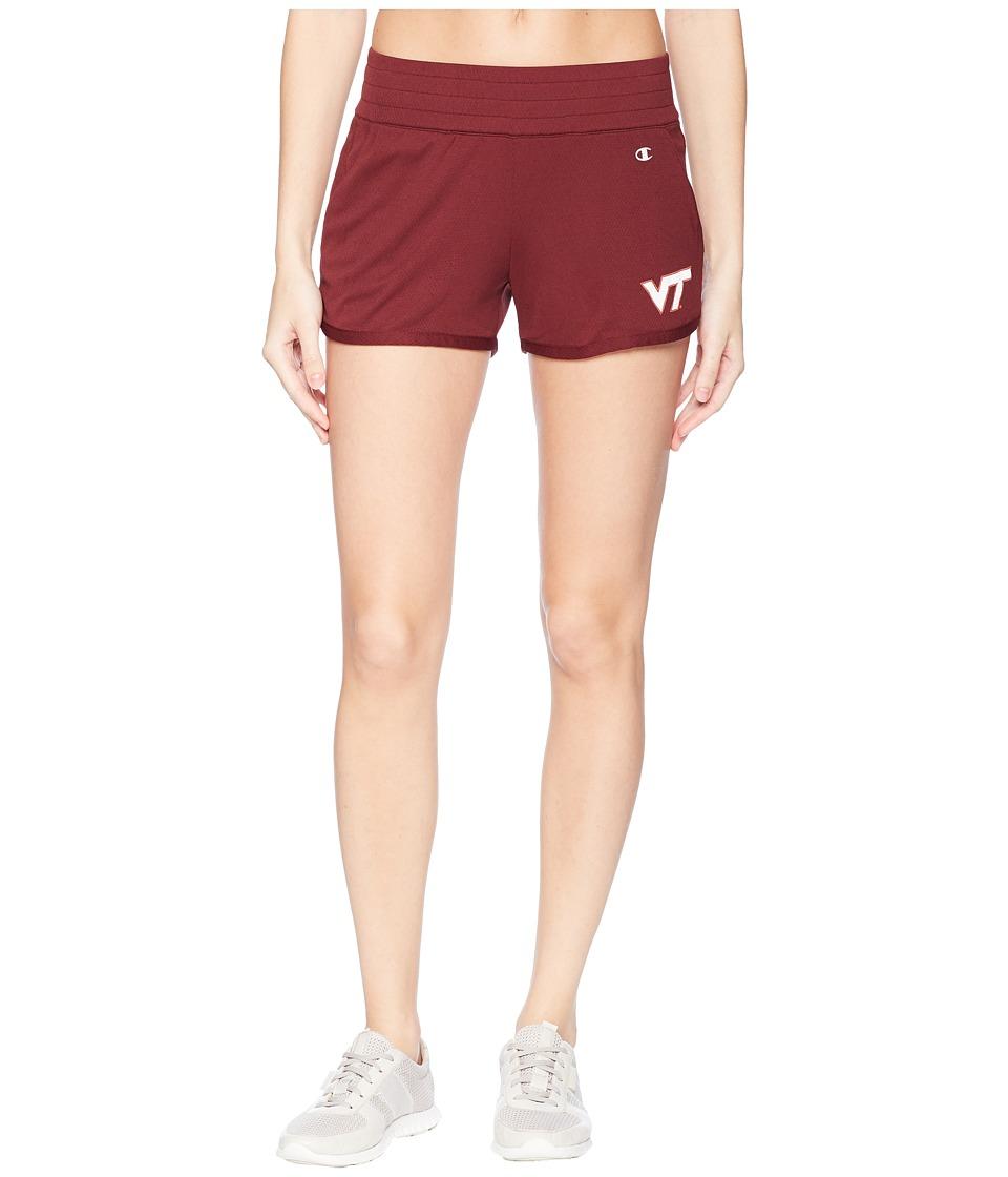 Champion College - Virginia Tech Hokies Endurance Shorts (Maroon) Womens Shorts