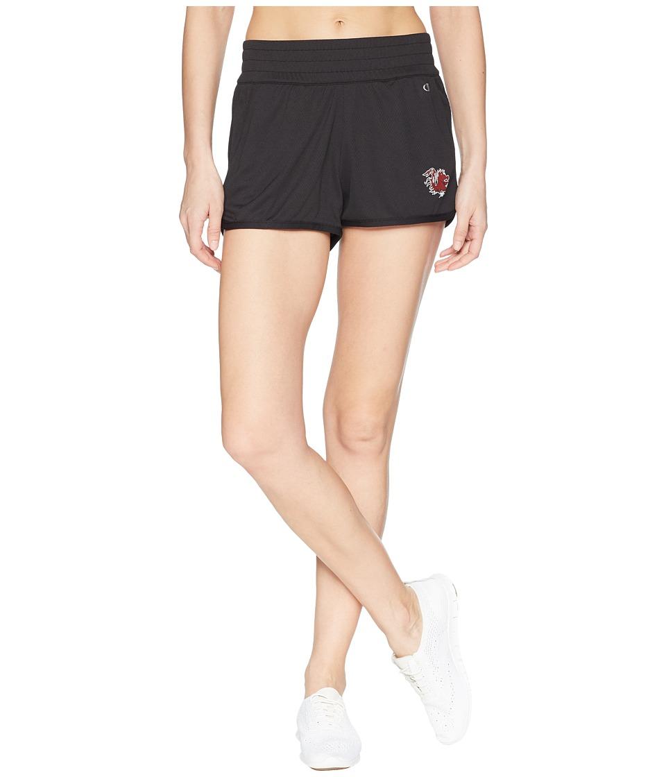 Champion College - South Carolina Gamecocks Endurance Shorts (Black) Womens Shorts