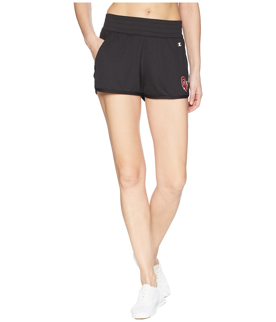 Champion College - Oklahoma Sooners Endurance Shorts (Black) Womens Shorts