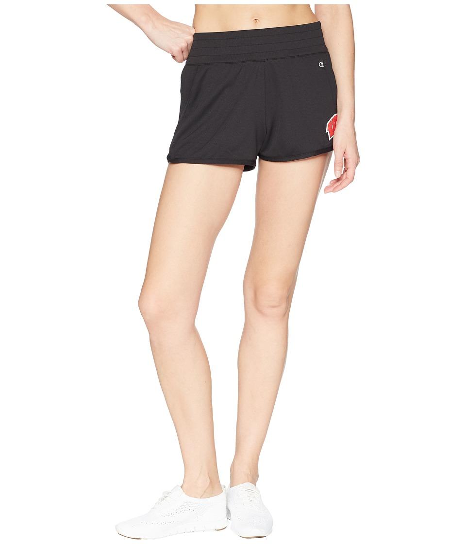 Champion College - Wisconsin Badgers Endurance Shorts (Black) Womens Shorts