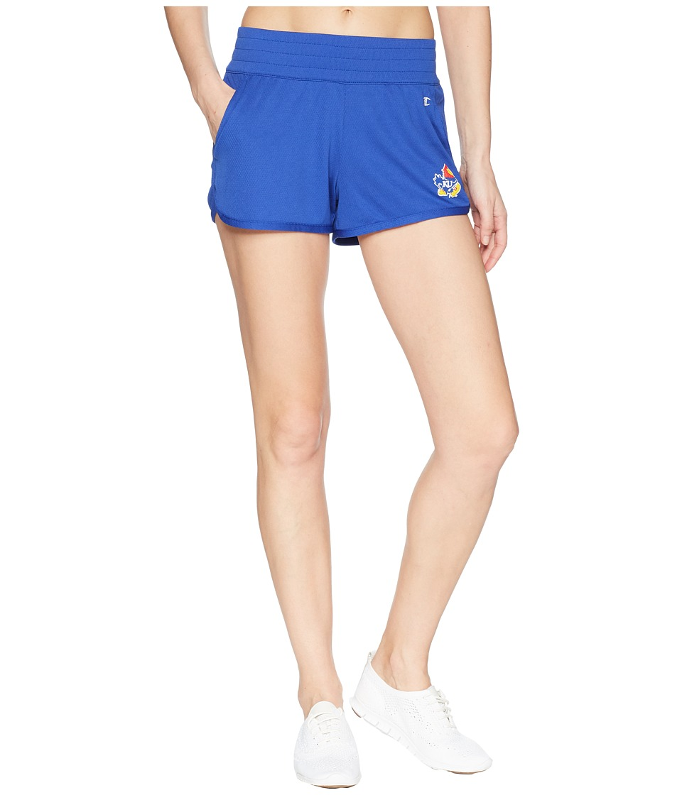 Champion College - Kansas Jayhawks Endurance Shorts (Royal) Womens Shorts