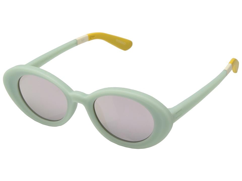 ZumaTravelerByTOMS Aqua Mat Sunglasses with Pink Mirror Lens q28K6nuWqi