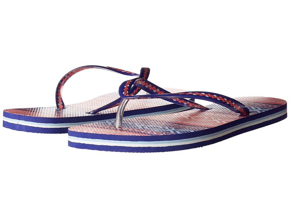Vera Bradley - Flip Flops (Bright Serape Stripe) Womens Slippers