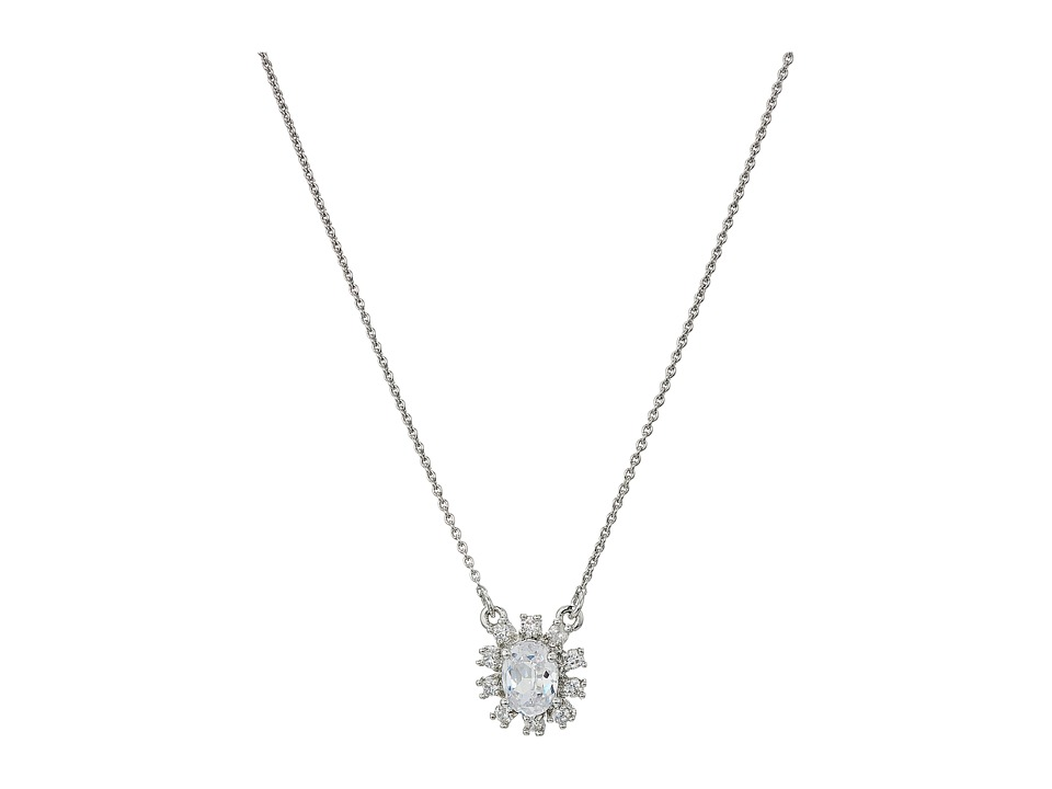 Marchesa - Rise and Shine 16 in Cluster Pendant Necklace (Rhodium/Cryanium) Necklace