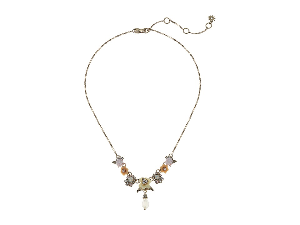Marchesa - Force of Nature 16 in Y-Neck Necklace (Gold/White) Necklace