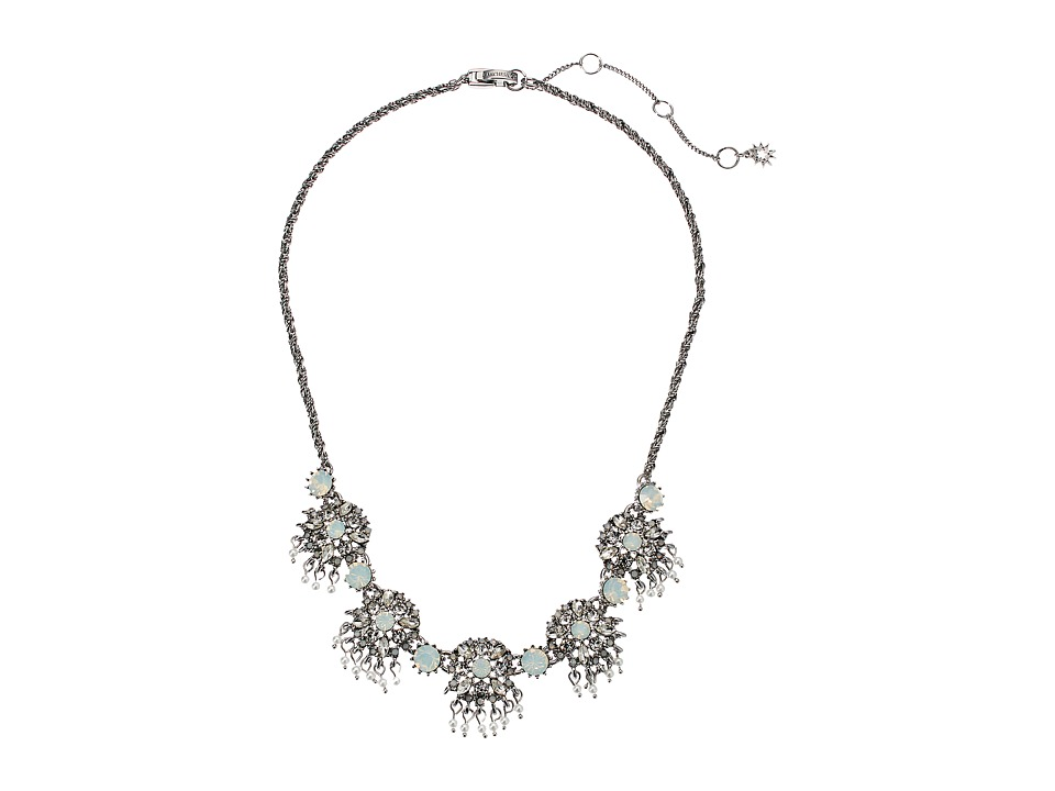 Marchesa - Lighter Than Air 16 in Cluster Frontal Round Embellishment Necklace (White Multi) Necklace