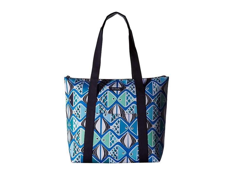 Vera Bradley - Cooler Tote (Go Fish Teal) Tote Handbags