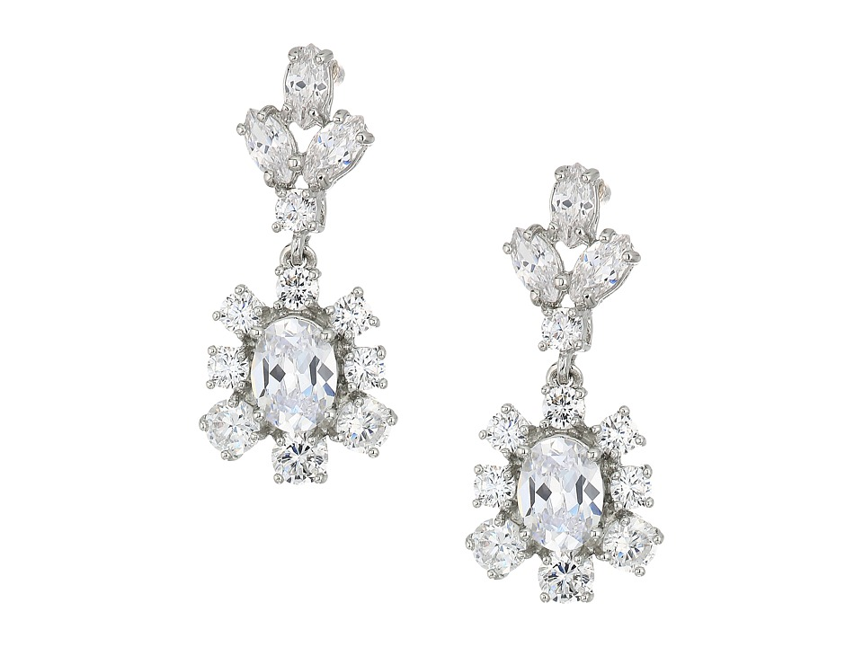 Marchesa - Rise and Shine Post Double Drop Earrings (Rhodium/Cryanium) Earring