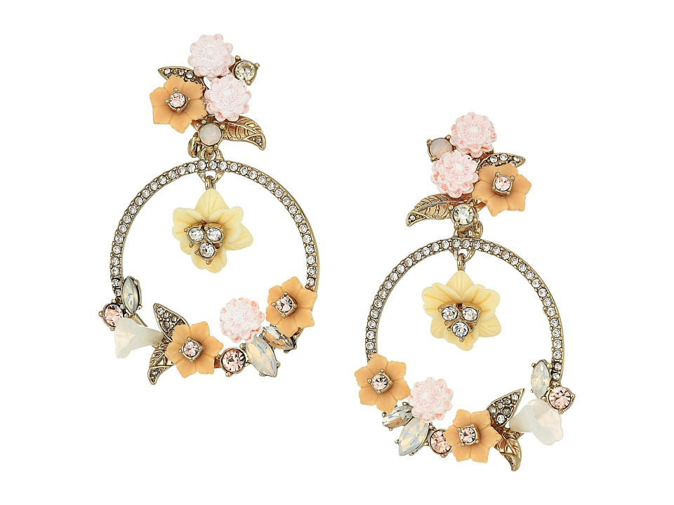 Marchesa - Force of Nature Large Orbital Drop Earrings (Gold/White) Earring