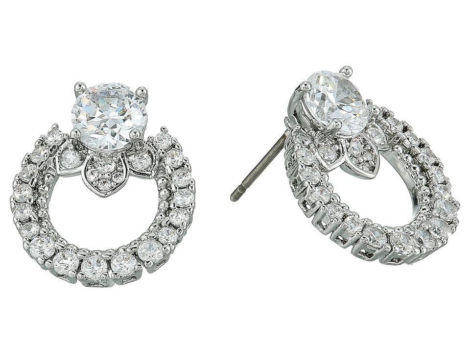 Marchesa - Rise and Shine Link Button Earrings (Rhodium/Cryanium) Earring