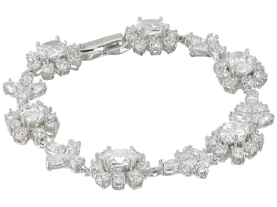 Marchesa - Rise and Shine 7.25 Cluster Flex Bracelet (Rhodium/Cryanium) Bracelet