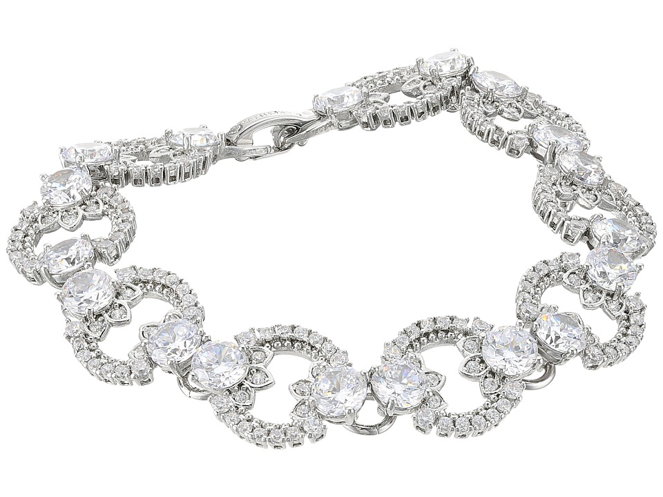 Marchesa - Rise and Shine 7.25 Link Flex Bracelet (Rhodium/Cryanium) Bracelet