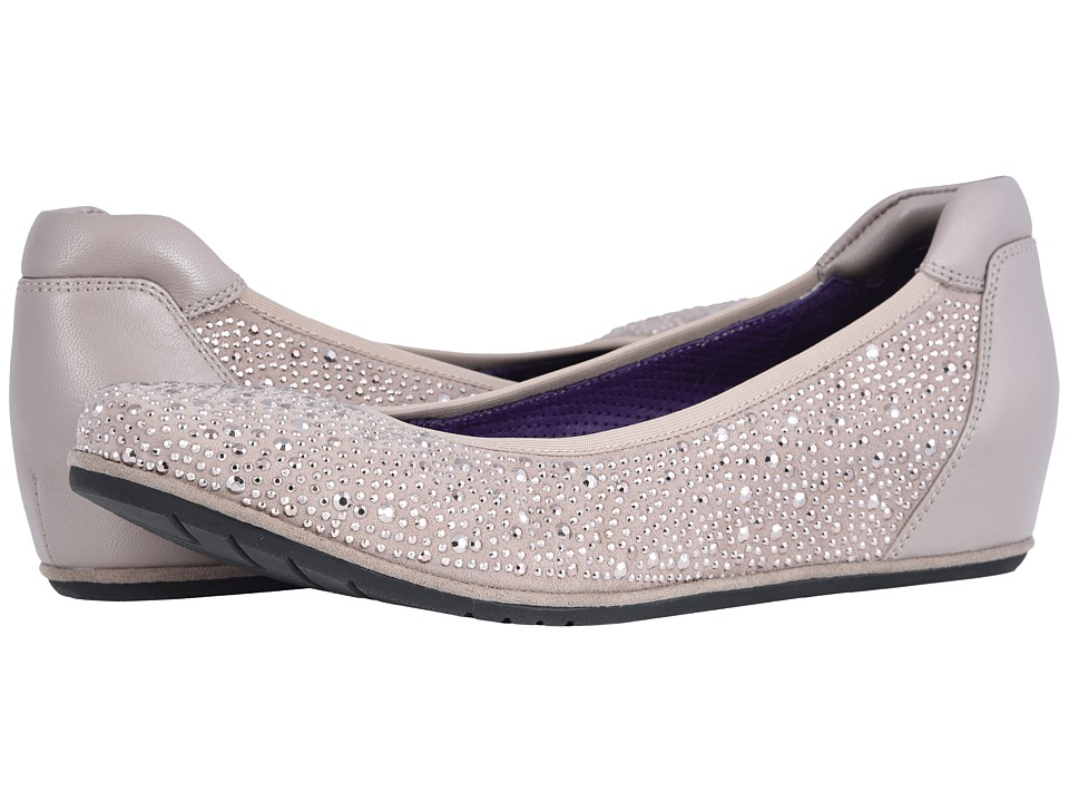 Vaneli Qadim (Acacia Suede/Acacia Nappa/Match Elastic/Silver Studs) Flats