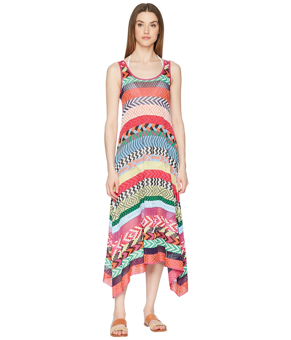 Mary Katrantzou - Leandra Dress Fira Stripe Knit Cover-Up (Multi) Womens Swimwear