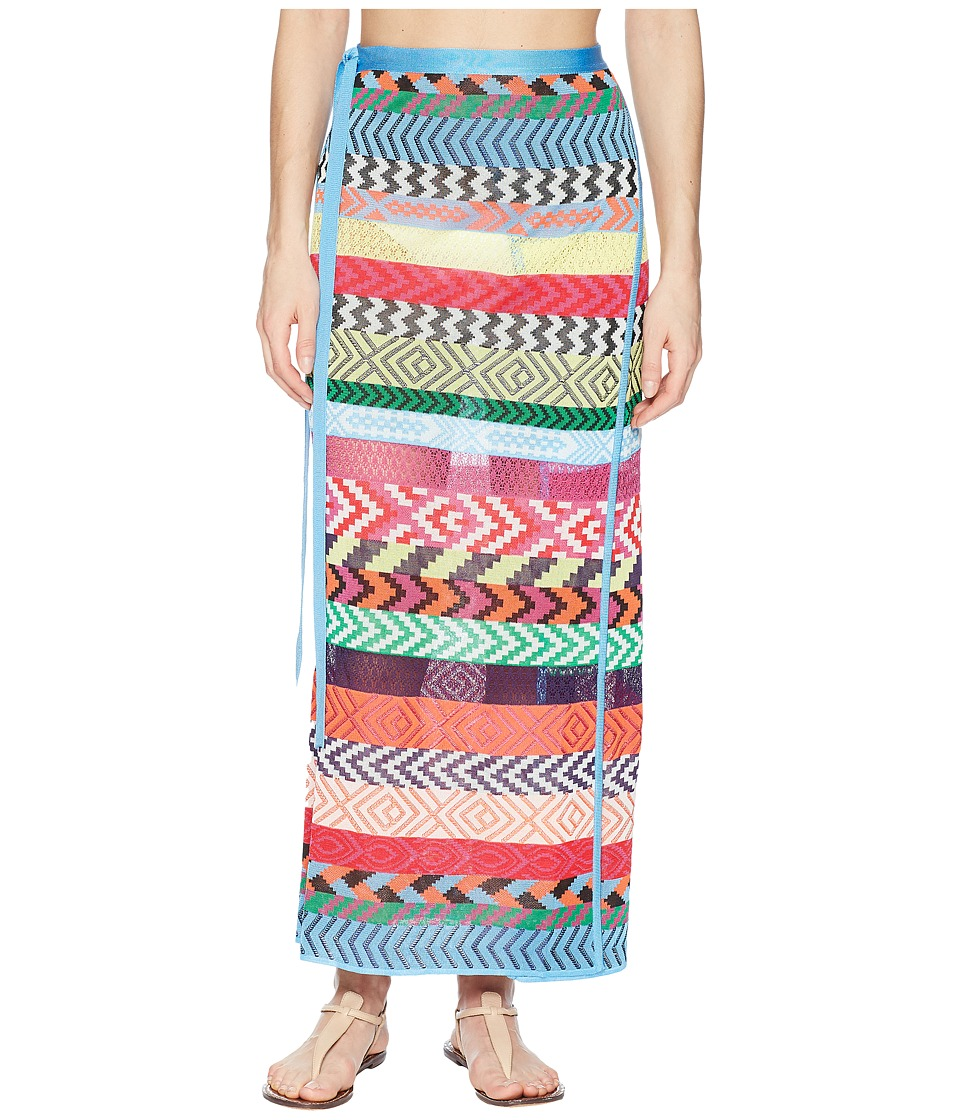 Mary Katrantzou - Evaris Skirt Fira Stripe Knit Cover-Up (Multi) Womens Swimwear