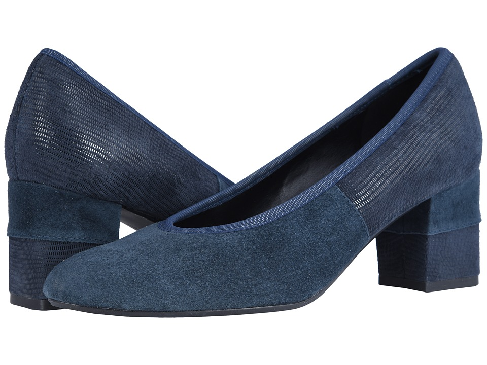 Vaneli Debora (Navy Suede/Matching Miniliz Print) Women's Shoes