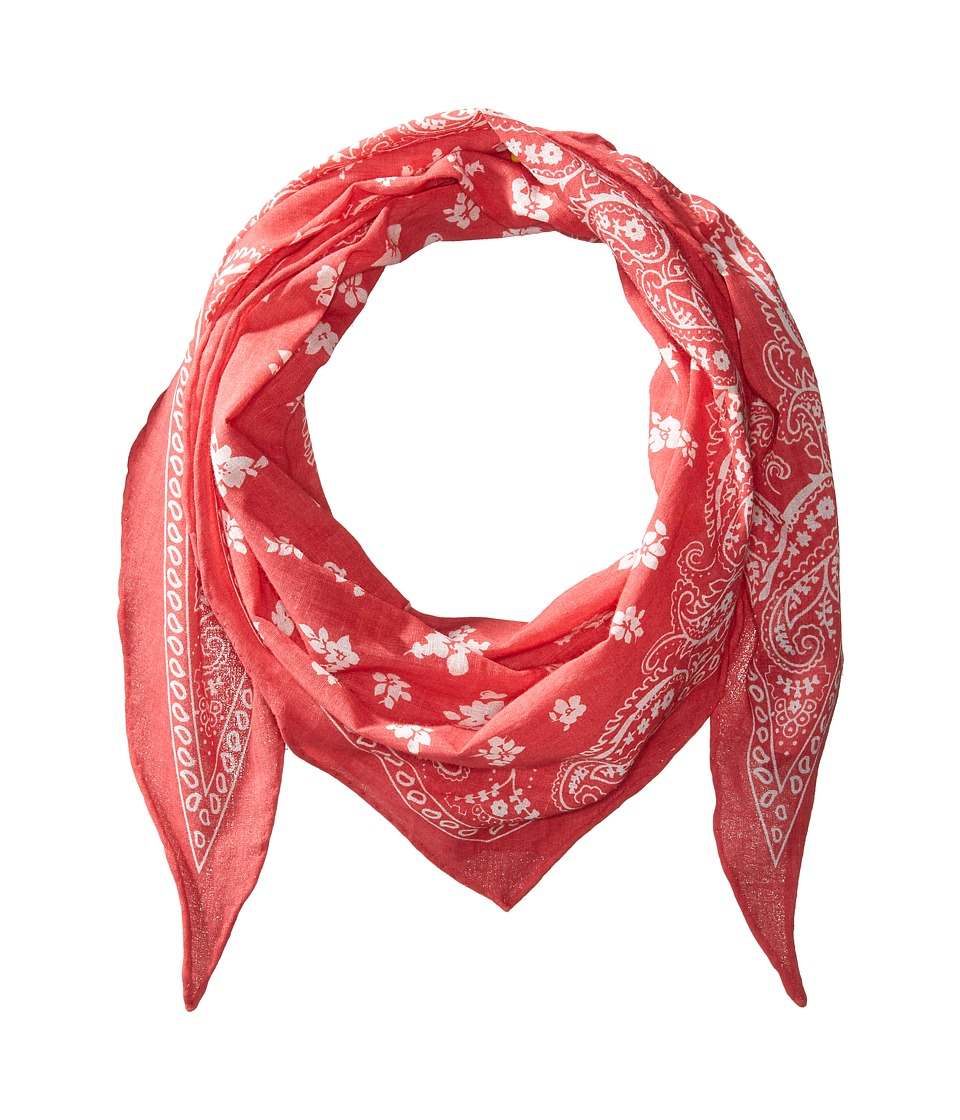 Ralph Lauren Karyn Floral Bandana Twilly (Sunset Red) Sca...