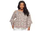 LAUREN Ralph Lauren LAUREN Ralph Lauren Plus Size Ruffled-Cuff Floral Jersey Top
