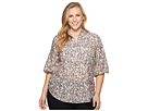 LAUREN Ralph Lauren LAUREN Ralph Lauren Plus Size Cotton-Silk Floral Tunic Top