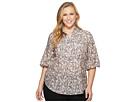 LAUREN Ralph Lauren Plus Size Cotton-Silk Floral Tunic Top