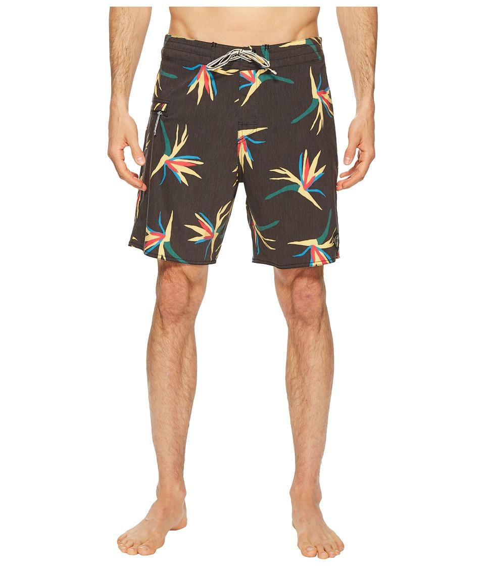 Captain Fin - Jungle Jam Boardshorts (Black) Mens Swimwear