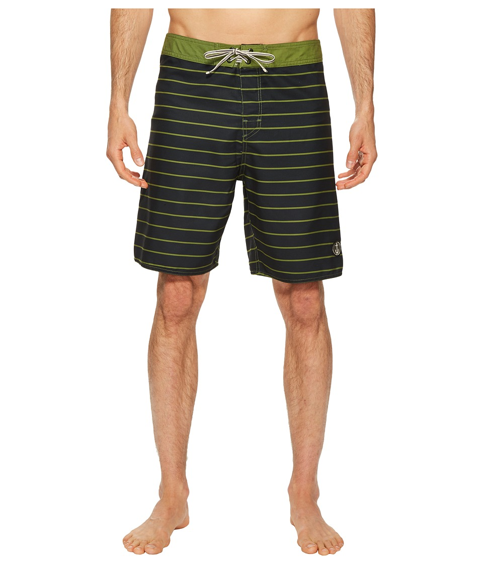 Captain Fin - Time Warp Boardshorts (Olive) Mens Swimwear
