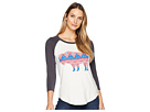 Wrangler Long Sleeve Baseball Tee Shirt Print