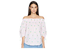 Kate Spade New York Pineapple Off Shoulder Top