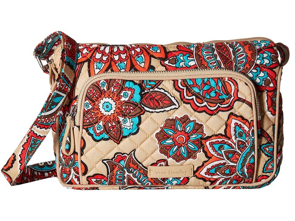 Vera Bradley Iconic RFID Little Hipster (Desert Floral) Handbags
