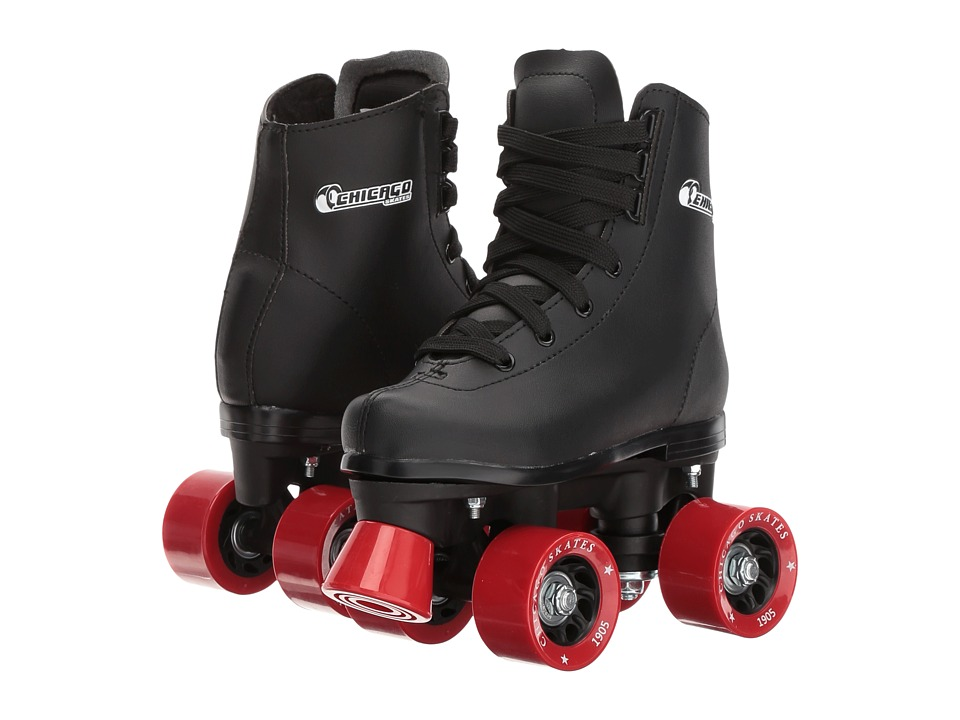 Chicago Skates Youth Rink Skate Toddler/Little Kid/Big Kid Black/Blue Wheeled Shoes