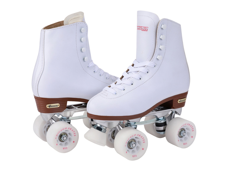 Chicago Skates Precision Rink Skate (White/Cream) Women's Wheeled Shoes