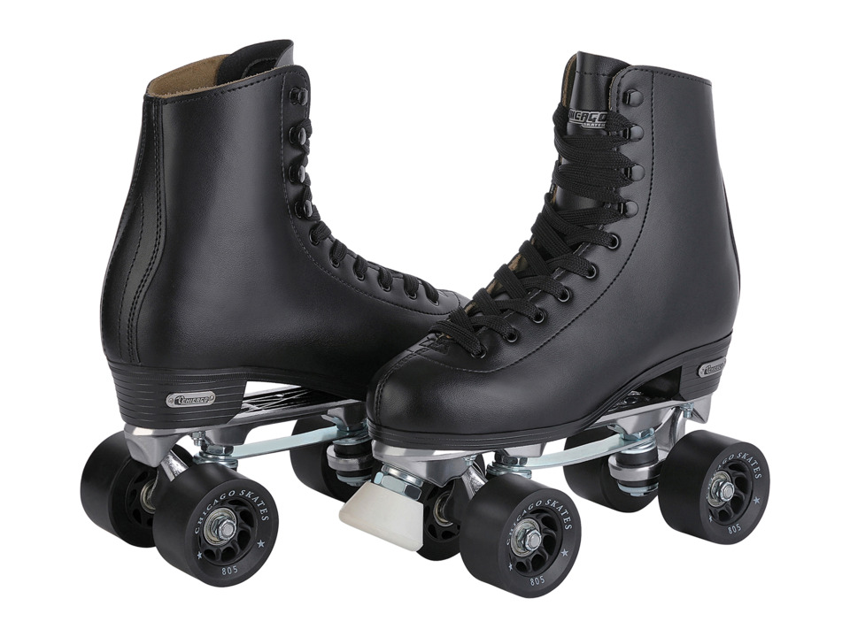 Chicago Skates Precision Rink Skate (Black/Black) Wheeled Shoes