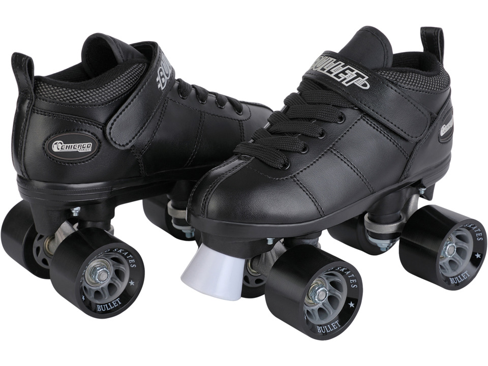 Chicago Skates Bullet Speed Skate (Black) Wheeled Shoes