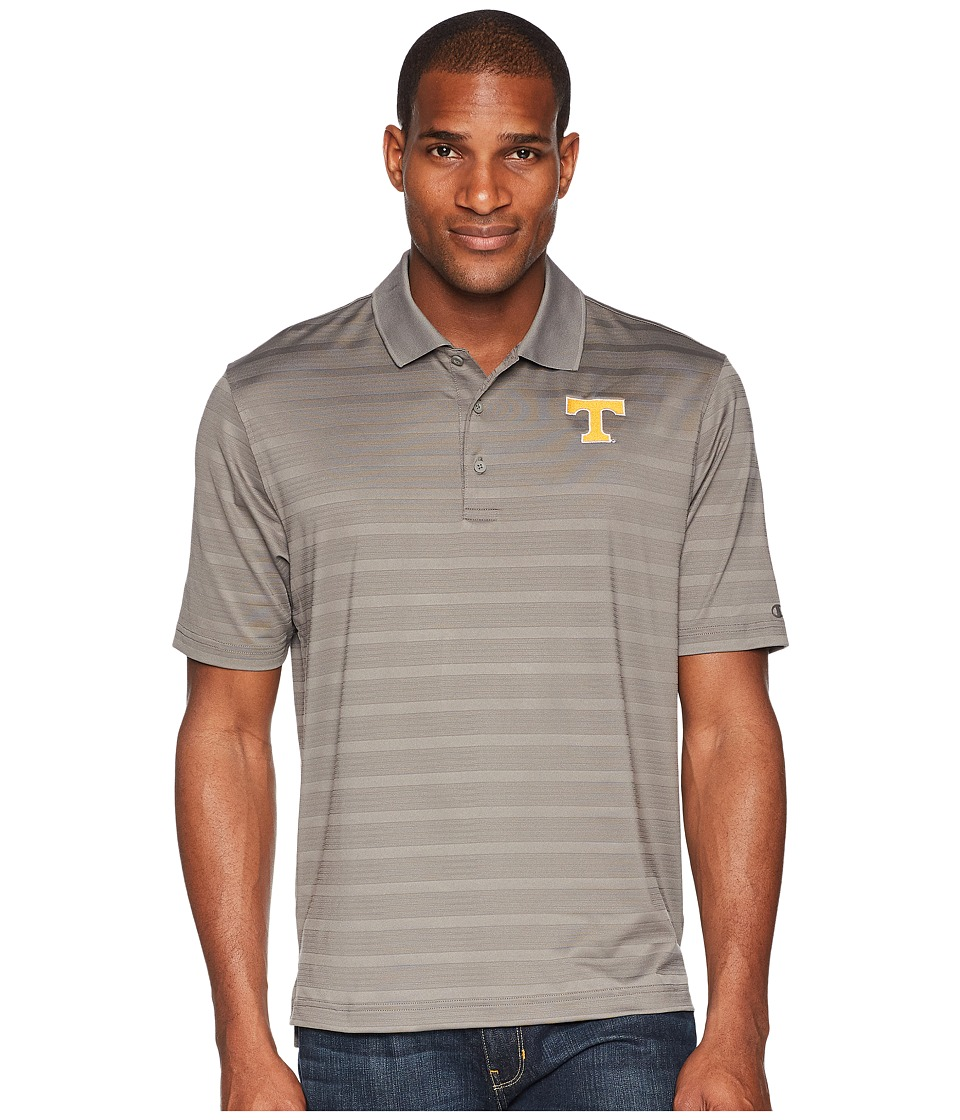 Champion College - Tennessee Volunteers Textured Solid Polo (Titanium) Mens Short Sleeve Pullover