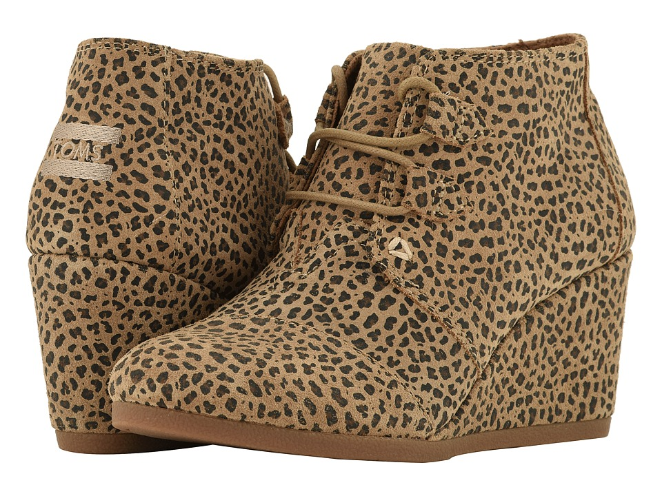 TOMS Kala (Cheetah Suede) Women's Lace-up Boots