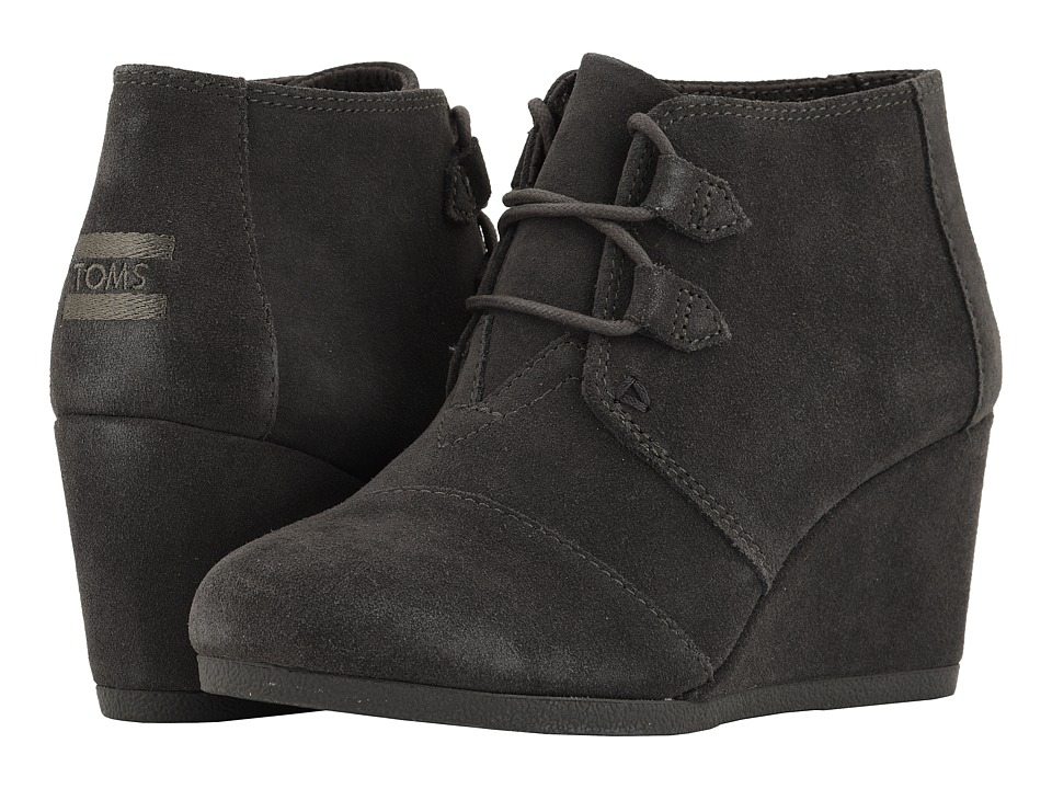 TOMS Kala (Forged Iron Grey Suede) Women's Lace-up Boots