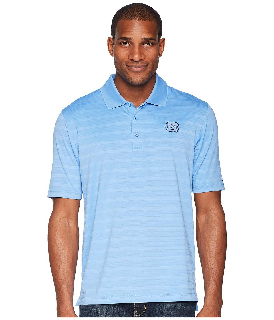 Champion College - North Carolina Tar Heels Textured Solid Polo (Light Blue) Mens Clothing