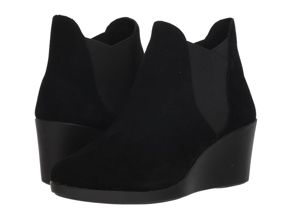 Crocs Leigh Wedge Chelsea Boot (Black) Women's  Boots
