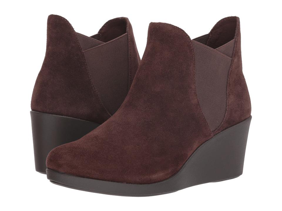 Crocs Leigh Wedge Chelsea Boot (Espresso) Women's  Boots