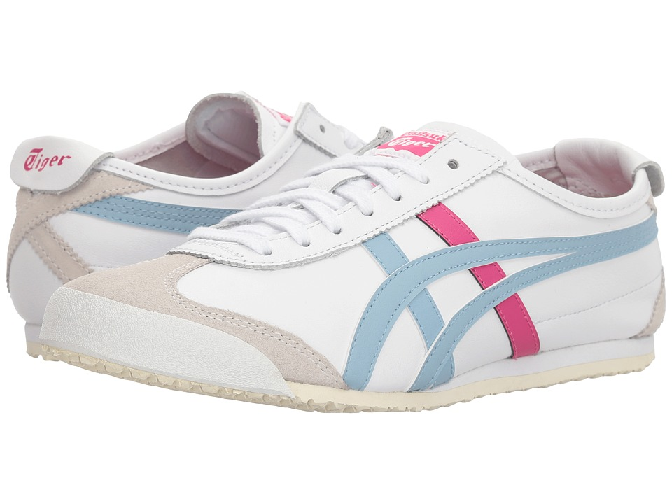 Onitsuka Tiger by Asics - Mexico 66(r) (White/Smoke Light Blue) Womens Classic Shoes