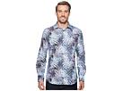BUGATCHI BUGATCHI Shaped Fit Palm Frond Woven Shirt