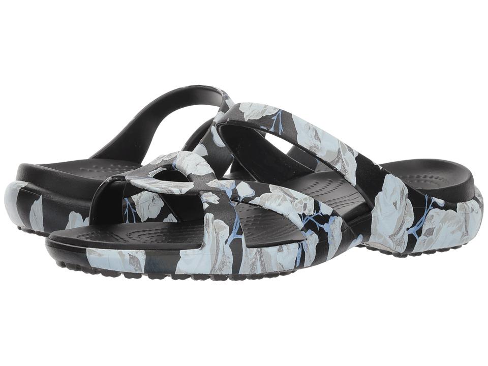 Crocs Meleen Twist Graphic Sandal (Rose/Black) Sandals