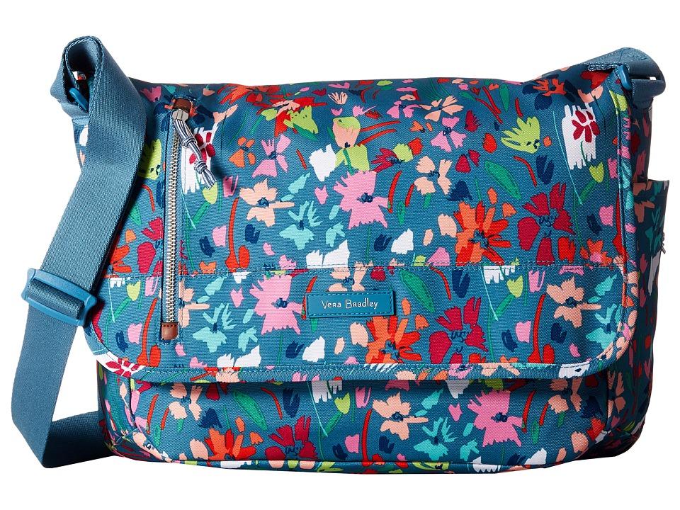 Vera Bradley - Laptop Messenger (Superbloom Sketch) Messenger Bags