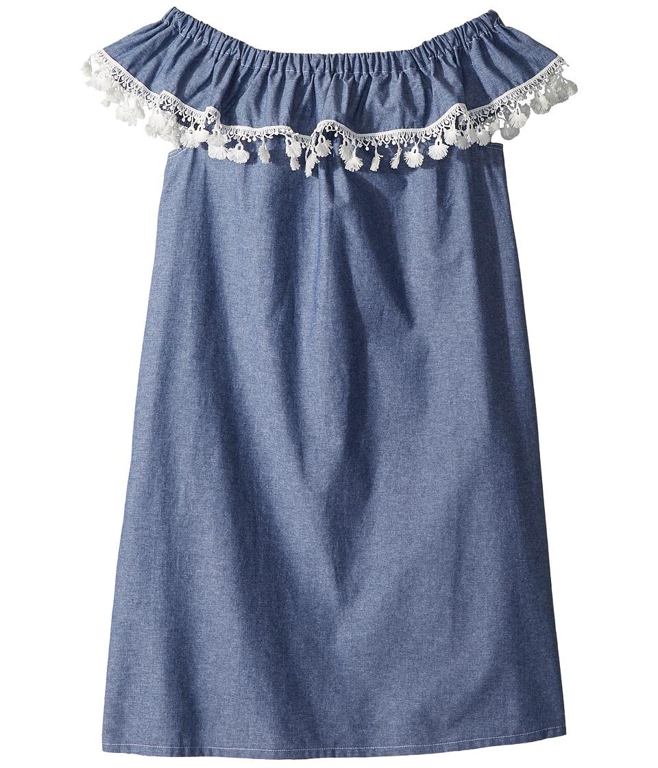 fiveloaves twofish - Catalina Dress (Little Kids/Big Kids) (Denim) Girls Dress