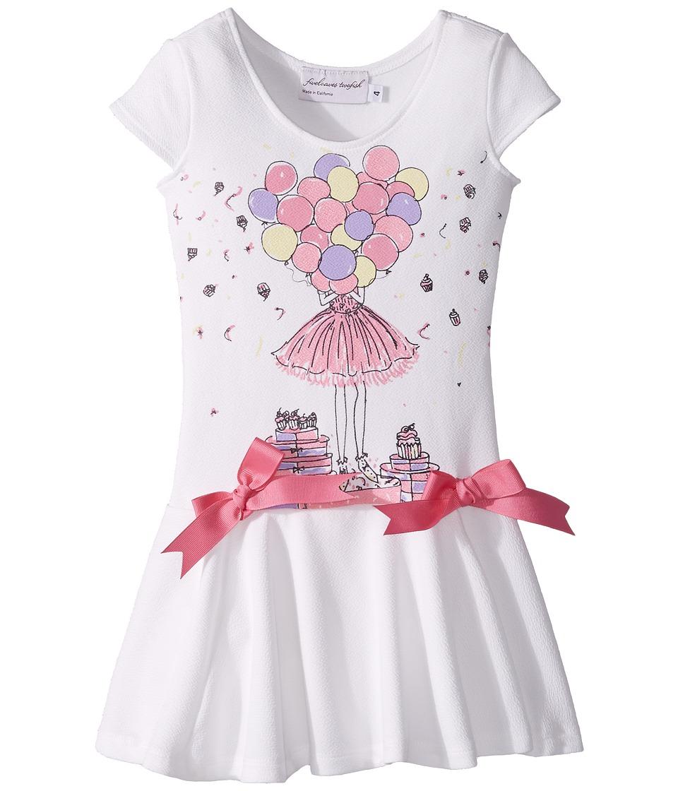 fiveloaves twofish - Birthday Savannah Dress (Toddler/Little Kids/Big Kids) (White) Girls Dress