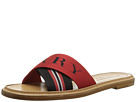 Burberry Striped Nylon and Leather Slides
