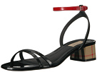 Burberry Burberry Tartan and Patent Leather Block-heel Sandals