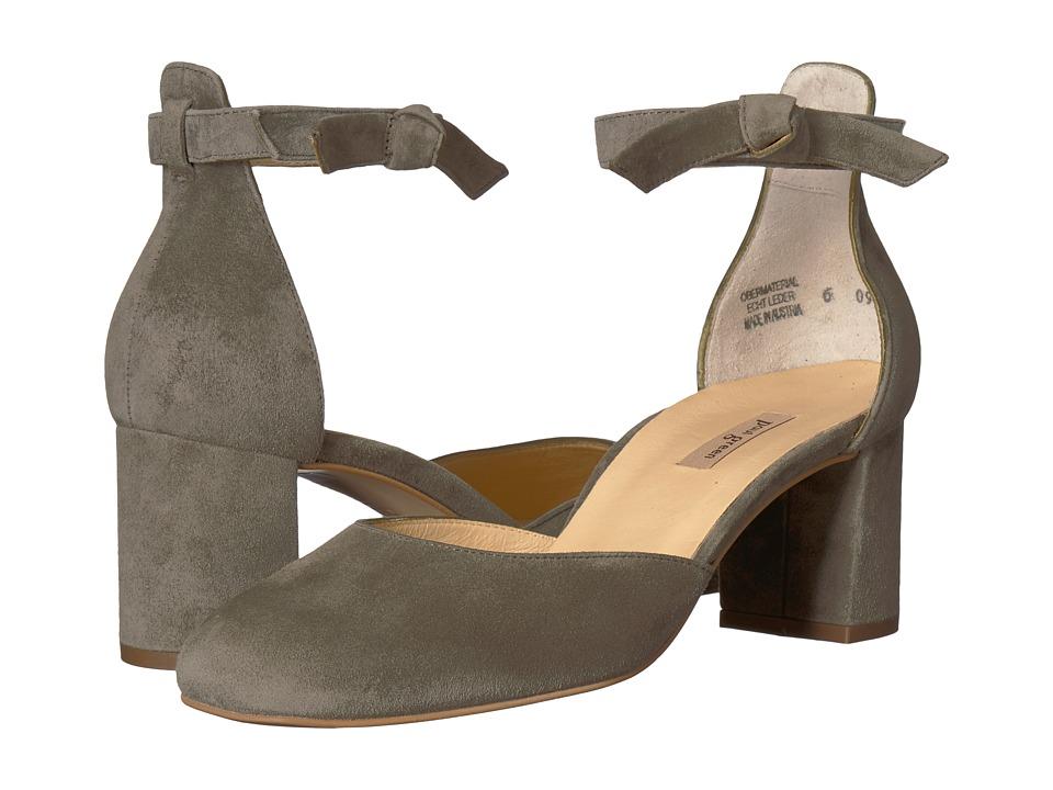Paul Green Susan Heel (Olive Suede) Women's Shoes
