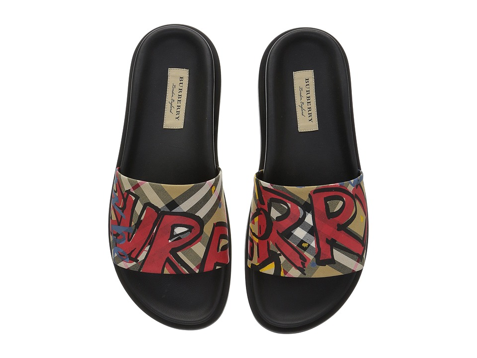 Burberry - Ashmore (Printed Antique Yellow) Womens Sandals