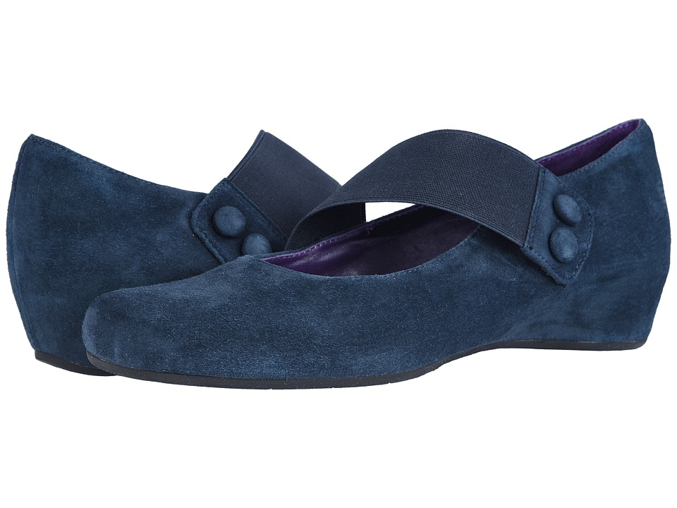 Vaneli Mabel (Navy Suede/Match Elastic) Women's Shoes